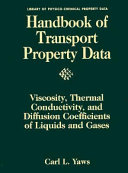 Handbook of Transport Property Data