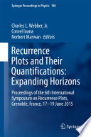 Recurrence Plots and Their Quantifications  Expanding Horizons Book