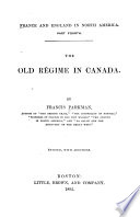The Old R  gime in Canada Book