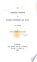 The Christian Doctrine of Forgiveness of Sin  an Essay Book