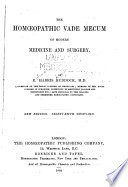 The Hom Opathic Vade Mecum Of Modern Medicine And Surgery