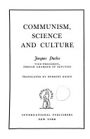 Communism  Science and Culture Book