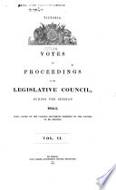 Votes and Proceedings of the Legislative Council During the Session