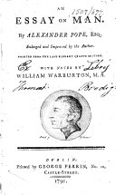 An Essay on Man     With notes by William Warburton