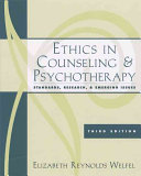 Ethics In Counseling And Psychotherapy Book