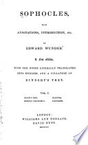 Oedipus rex  Oedipus Colonaeus  Electra  Antigone Book