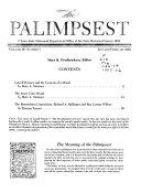 Pdf The Palimpsest