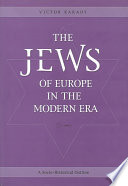 The Jews of Europe in the Modern Era