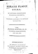 Horatii Flacci opera