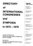 Directory of International Congresses and Symposia