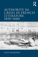 Pdf Authority in Crisis in French Literature, 1850–1880 Telecharger