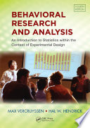 Behavioral Research And Analysis Book PDF