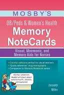 Mosby's OB/Peds & Women's Health Memory NoteCards Pdf/ePub eBook