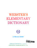 Webster s Elementary Dictionary