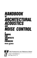 Handbook of Architectural Acoustics and Noise Control Book