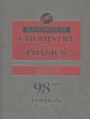 CRC Handbook of Chemistry and Physics  98th Edition