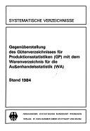 Gegenüberstellung des Güterverzeichnisses für Produktionsstatistiken (GP) mit dem Warenverzeichnis für die Aussenhandelsstatistik (WA)