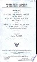 Homeland Security Intelligence