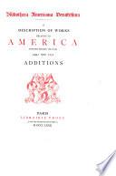 Bibliotheca Americana Vetustissina