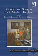 Gender and Song in Early Modern England