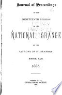 Journal Of Proceedings Of The Session Of The National Grange Of The Patrons Of Husbandry