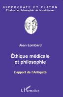 Pdf Ethique médicale et philosophie Telecharger