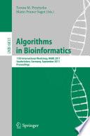 Algorithms in Bioinformatics Book