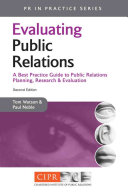Evaluating Public Relations