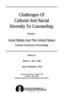 Challenges of Cultural and Racial Diversity to Counseling  Great Britain and the United States