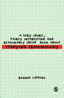 A Very Short, Fairly Interesting and Reasonably Cheap Book About Studying Criminology