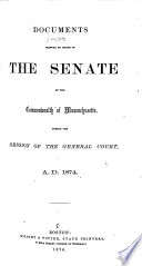 Documents Printed by Order of the Senate ...
