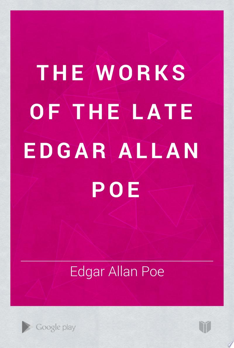 The Works of the Late Edgar Allan Poe banner backdrop