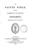 La sainte Bible, version revue