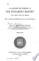 An Analysis and Summary of Old Testament History and the Laws of Moses Pdf/ePub eBook