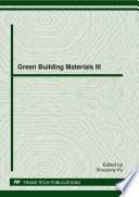 Green Building Materials III