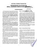 Nsf Program Solicitation Book PDF