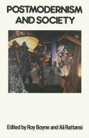 Postmodernism And Society Pdf/ePub eBook