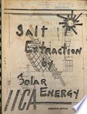 Salt Extraction by Solar Energy Book