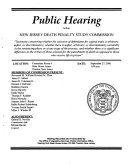 Public Hearing Before New Jersey Death Penalty Study Commission