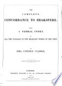 The Complete Concordance to Shakspeare