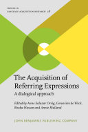 Pdf The Acquisition of Referring Expressions Telecharger
