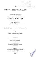 The New Testament of Our Lord and Saviour Jesus Christ Book