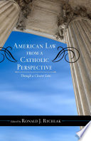 American Law from a Catholic Perspective