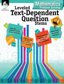 Leveled Text Dependent Question Stems  Mathematics Problem Solving