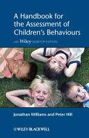 A Handbook for the Assessment of Children's Behaviours