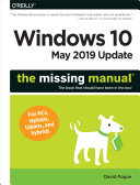 Pdf Windows 10 May 2019 Update: The Missing Manual