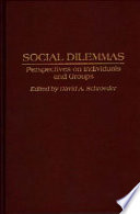 Social Dilemmas Book PDF