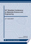 22nd Brazilian Conference on Materials Science and Engineering Book