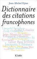 Pdf Dictionnaire des citations francophones Telecharger
