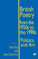 Pdf British Poetry from the 1950s to the 1990s Telecharger
